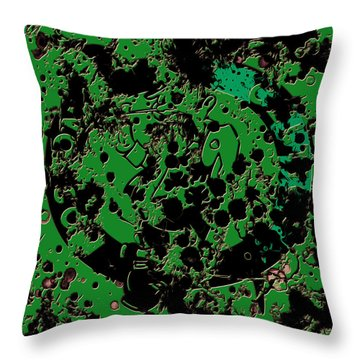 The Boston Celtics 6c Throw Pillow by Brian Reaves