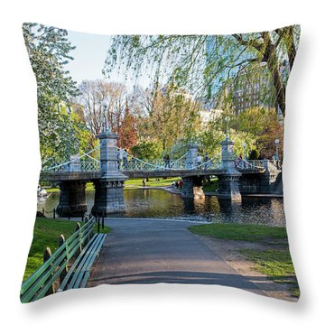 The Boston Public Garden In The Spring Boston Ma Throw Pillow