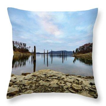 The Bottom Of The Lake Throw Pillow