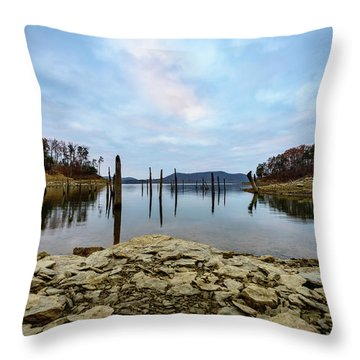 The Bottom Of The Lake Throw Pillow
