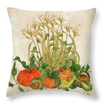 The Bountiful Harvest Throw Pillow