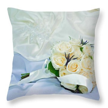 The Bouquet Throw Pillow by Keith Armstrong