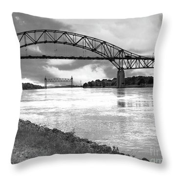 The Bourne And Railroad Bridges Throw Pillow
