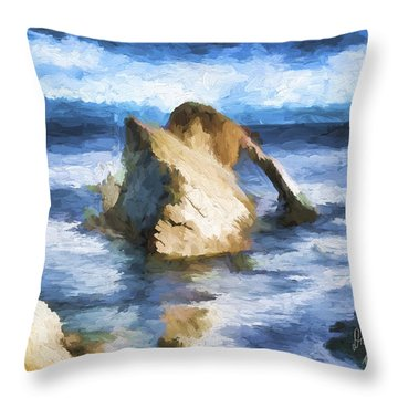 The Bow Fiddle  Throw Pillow