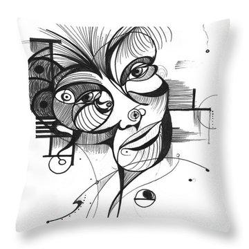 The Boxer Throw Pillow by Nicholas Burningham