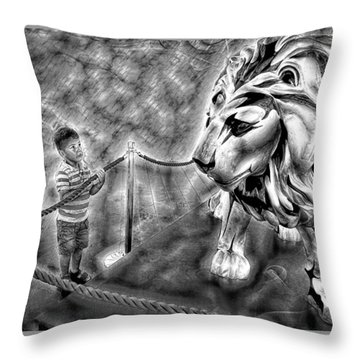The Boy And The Lion 18 Throw Pillow