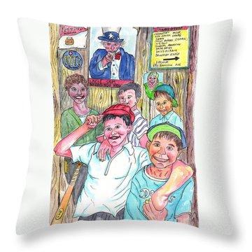 The Boys Of Spring Throw Pillow