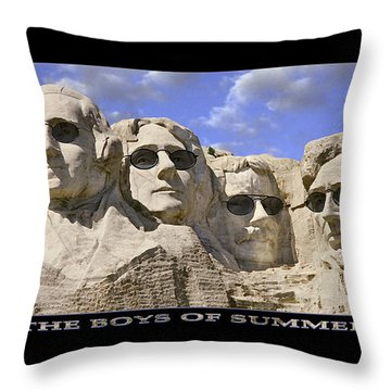 The Boys Of Summer Throw Pillow by Mike McGlothlen