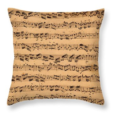 The Brandenburger Concertos Throw Pillow