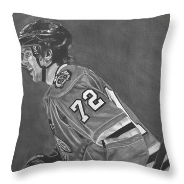 Throw Pillow featuring the drawing The Breadman by Melissa Goodrich