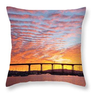 The Break Of Dawn In Coronado Throw Pillow