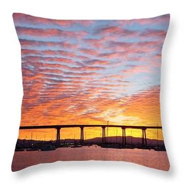 The Break Of Dawn In Coronado Throw Pillow