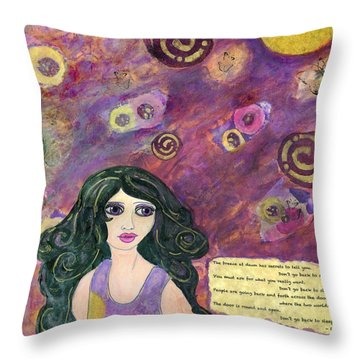 The Breeze At Dawn Throw Pillow