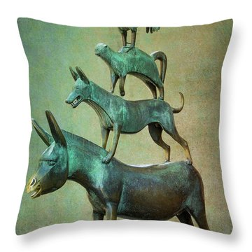 The Bremen Town Musicians Throw Pillow