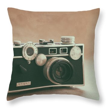 Throw Pillow featuring the photograph The Brick by Ana V Ramirez