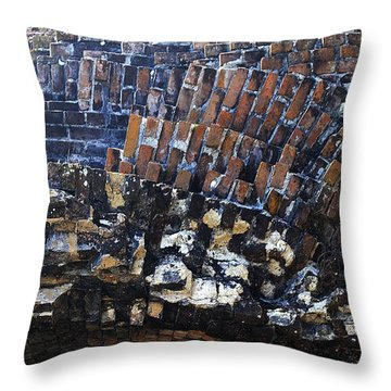 The Bricks Of Ft. Pickens Throw Pillow