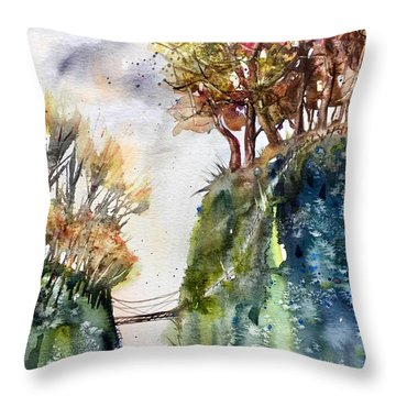 The Bridge Between Two Worlds Throw Pillow