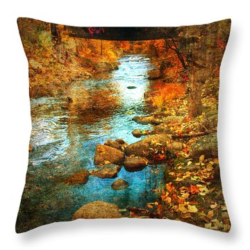 The Bridge By Government Street Throw Pillow by Tara Turner