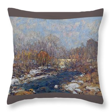 The Bridge  Garfield Park  By William J  Forsyth Throw Pillow