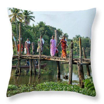 The Bridge Throw Pillow by Marion Galt