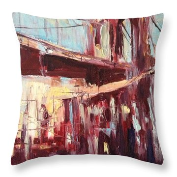 The Bridge Throw Pillow by NatikArt Creations