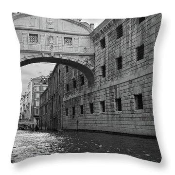 The Bridge Of Sighs, Venice, Italy Throw Pillow