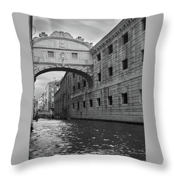 Throw Pillow featuring the photograph The Bridge Of Sighs, Venice, Italy by Richard Goodrich