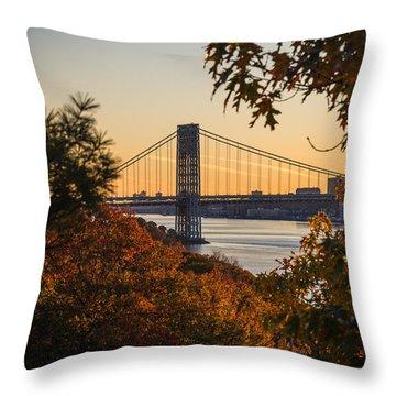 The Bridge Through The Trees Throw Pillow