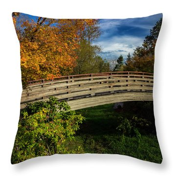 The Bridge To The Garden Throw Pillow