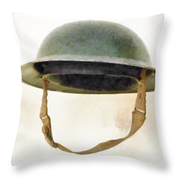 The British Brodie Helmet  Throw Pillow by Steve Taylor