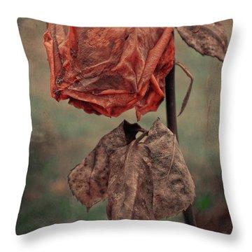 The Broken Rose  Throw Pillow