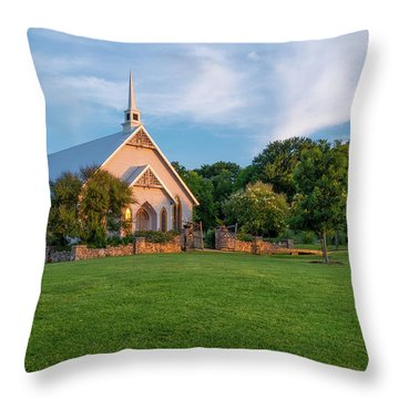 The Brooks At Weatherford Wedding Chapel Throw Pillow