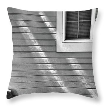 Throw Pillow featuring the photograph The Broom And Sunbeams by Monte Stevens