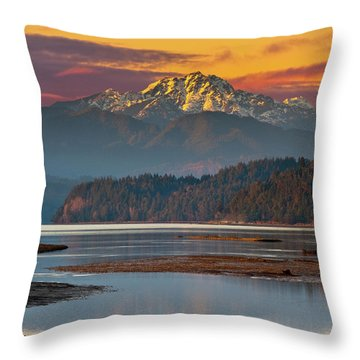 The Brothers From Hood Canal Throw Pillow
