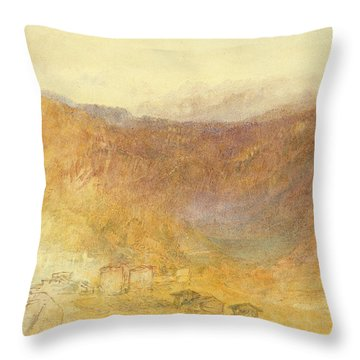 The Brunig Pass From Meiringen Throw Pillow by Joseph Mallord William Turner