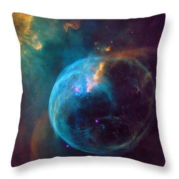 The Bubble Nebula Ngc 7653 Throw Pillow