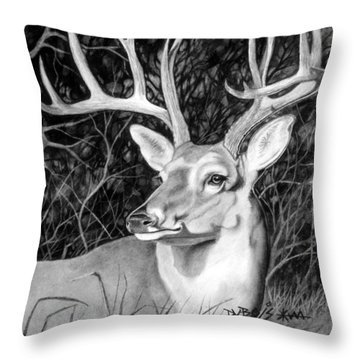 The Buck Throw Pillow