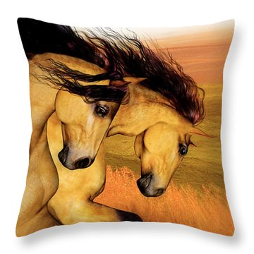 The Buckskins Throw Pillow