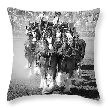 The Budweiser Clydesdales Throw Pillow