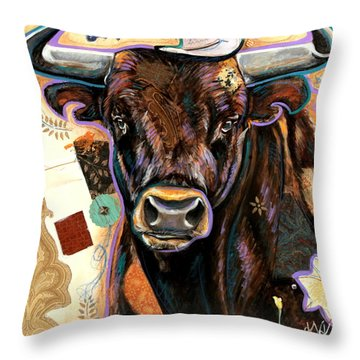 The Bull Throw Pillow