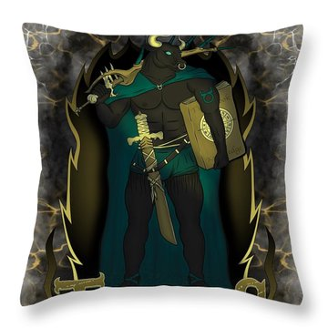 The Bull Taurus Spirit Throw Pillow