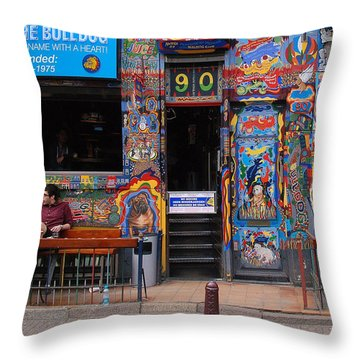 The Bulldog Of Amsterdam Throw Pillow