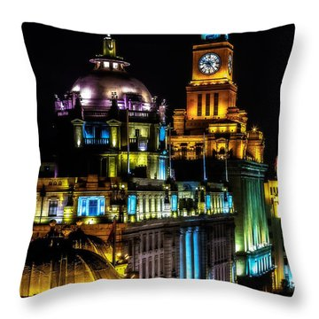 The Bund Throw Pillow