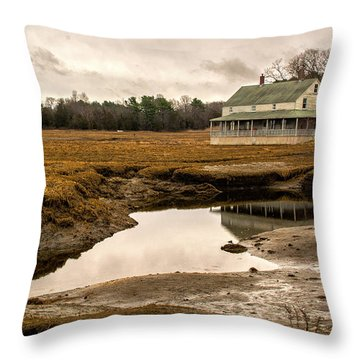 The Burnham House In Essex Massachusetts Throw Pillow