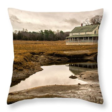 Throw Pillow featuring the photograph The Burnham House In Essex Massachusetts by Nancy De Flon