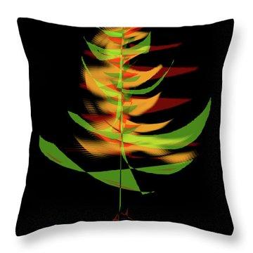 Throw Pillow featuring the digital art The Burning Bush by James Fannin