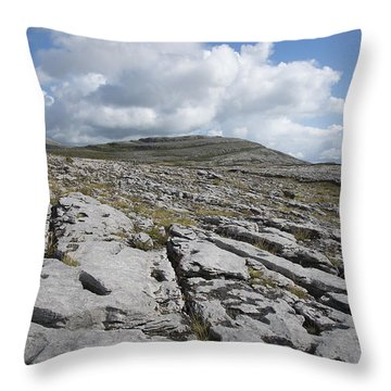 The Burren National Park Throw Pillow
