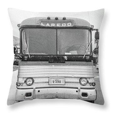 The Bus To Laredo Throw Pillow