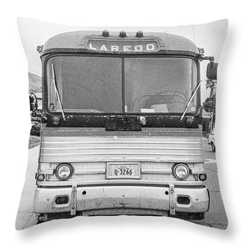 The Bus To Laredo Throw Pillow