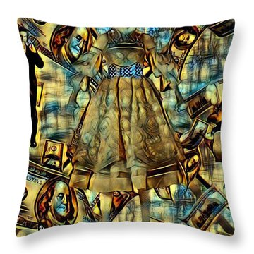 The Business Of Humans Throw Pillow
